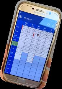 aktueller Stundenplan auf dem Smartphone